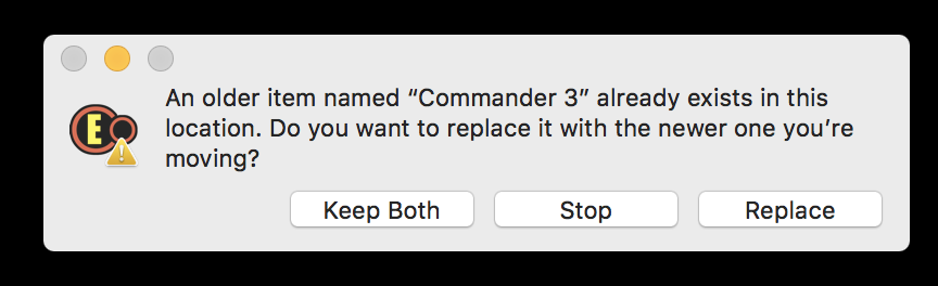 replace old version of Commander 3